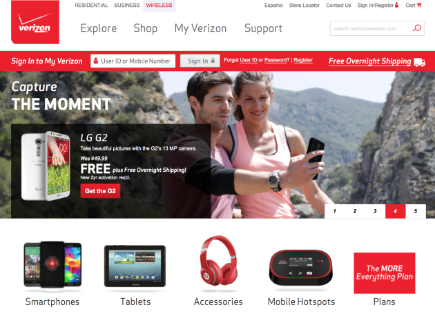 verizon-product-website
