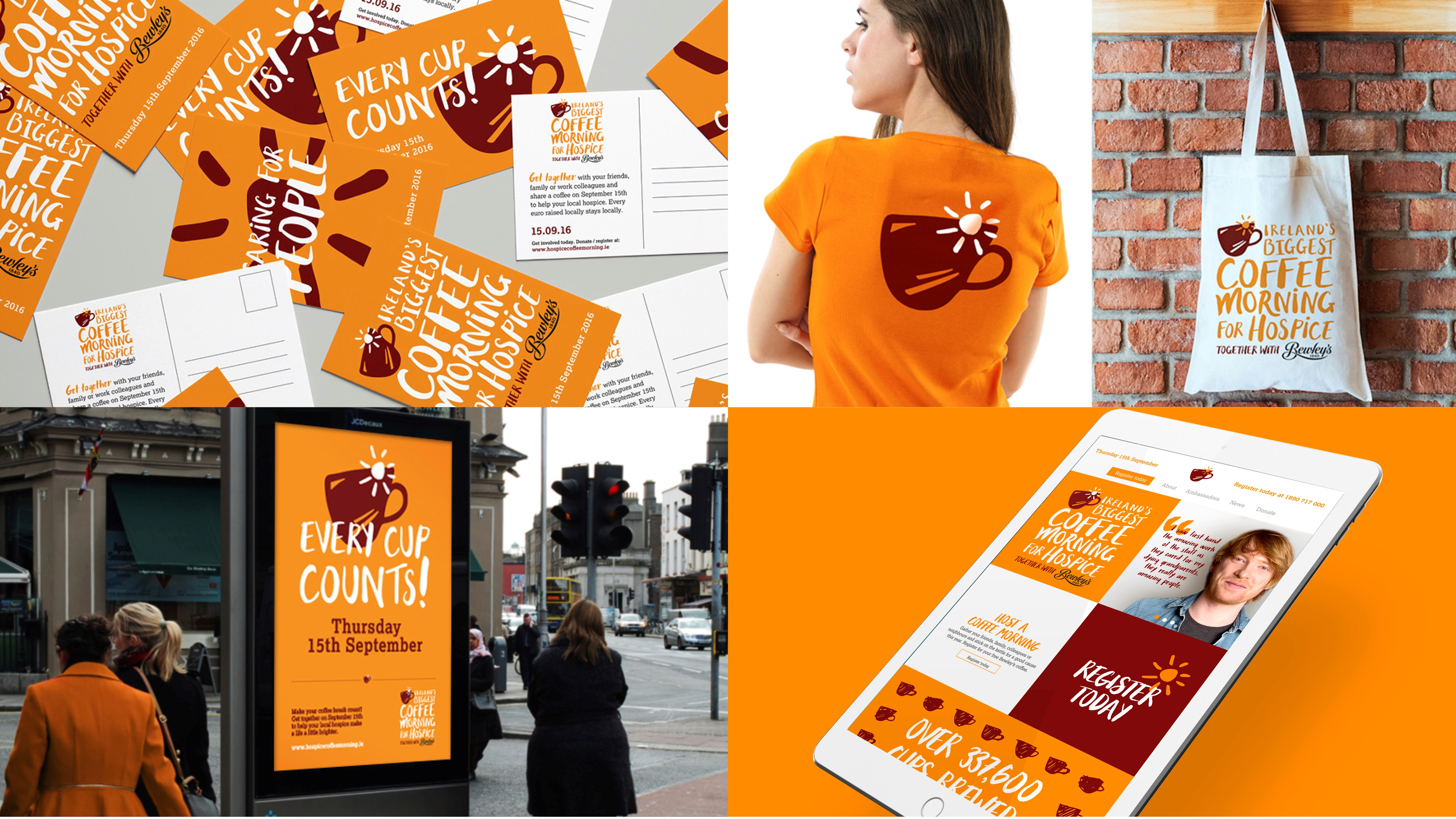 c99c32fe5b13 Our work with Bewley s on Ireland s Biggest Coffee Morning for hospice has  been shortlisted for Best Visual Identity from a Charity